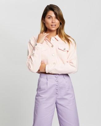 Glamorous Cropped Baby Pink Jacket