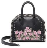 Stella McCartney Falabella Box Embroidered Faux Leather Top-Handle Satchel