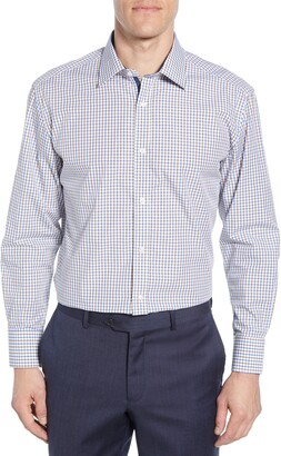 English Laundry Trim Fit Plaid Dress Shirt