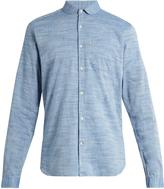 Oliver Spencer Eton-collar cotton-marl shirt