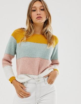 Only colour block jumper-Multi