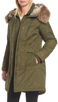1 Madison Women's Insulated Parka With Faux Fur Trim