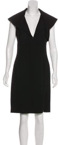 Alexander McQueen Wool Midi Dress
