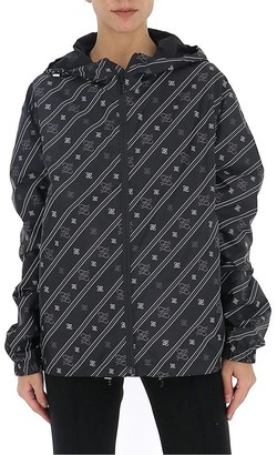 Fendi FF Karligraphy Diagonal Striped Jacket