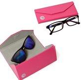 RoryTory 2pc Foldable Triangular Eyeglass Case With Microfiber Cloth