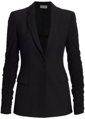 Akris Punto Ruched-Sleeve Crepe Jacket