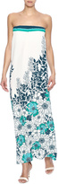 Love Stitch Lovestitch Strapless Floral Maxi Dress