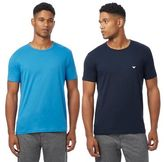Emporio Armani Pack Of Two Blue Crew Neck T-shirts