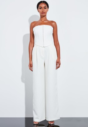 Missguided Ivory Corest Bandeau Top