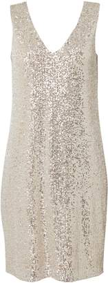 Wallis Oyster Sequin Shift Dress