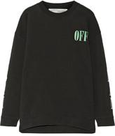 Off-White Psycho Printed Cotton-jersey Sweatshirt - Black