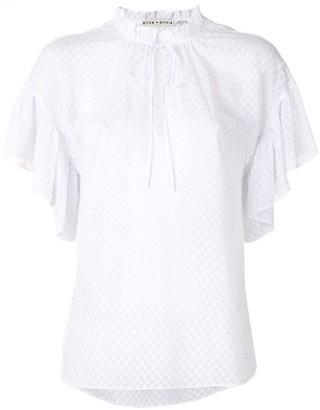 Alice + Olivia Julius ruffle sleeve tunic top