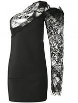 Saint Laurent one shoulder asymmetric dress