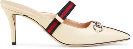 4436cce2a Gucci White Mules & Clogs - ShopStyle