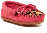 Minnetonka Leopard Kilty Genuine Calf Hair Moccasin (Toddler, Little Kid, & Big Kid)