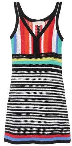 Diane von Furstenberg Striped knit cotton minidress