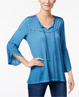 Style&Co. Style & Co. Tulip-Sleeve Peasant Top, Only at Macy's