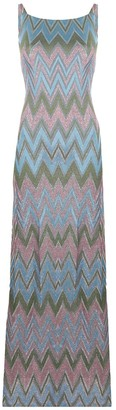 M Missoni Zig-Zag Pattern Long Dress