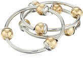 """Kenneth Cole New York Metal Spheres"""" Two Tone Ball Tube Stretch Bracelet"""