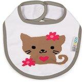 Izzy and Owie Izzy/Owie Baby Girl Kitty Snap Bib, /Gray