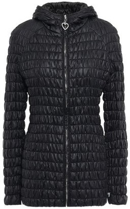 Love Moschino Shirred Quilted Shell Hooded Jacket