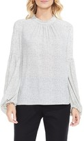 Vince Camuto Women's Elegant Speckles Balloon Sleeve Blouse
