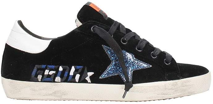 Golden Goose Superstar Black Velvet Sneakers