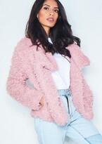 Missy Empire Missyempire Erin Pink Wrap Faux Fur Coat