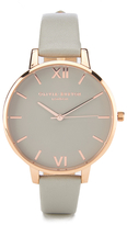 Olivia Burton Women's Big Dial Grey and Rose Gold Watch Rose Gold