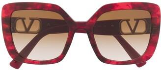 Valentino Eyewear VLOGO square-frame sunglasses