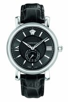 Versace Men's VNA010014 URBAN GENT Self-Wind Stainless Steel Watch with Black Band