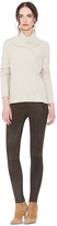 Alice + Olivia Chocolate Front Zip Suede Legging