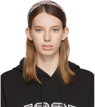MSGM SSENSE Exclusive Pink Checked Headband