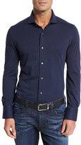 Neiman Marcus Jersey Knit Sport Shirt, Navy