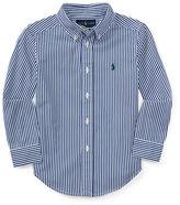 Ralph Lauren Striped Cotton Poplin Sport Shirt, Size 2-7