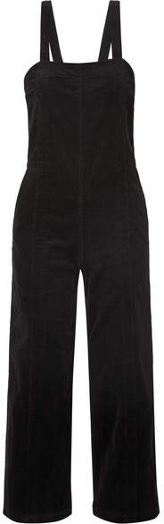 Apiece Apart Carmen Stretch-cotton Corduroy Jumpsuit - Black