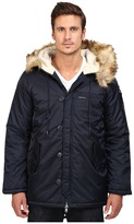 Members Only Military Long Hooded Parka with Fishtail