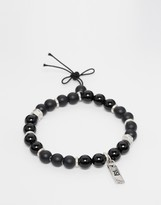 ICON BRAND Beaded Bracelet In Black