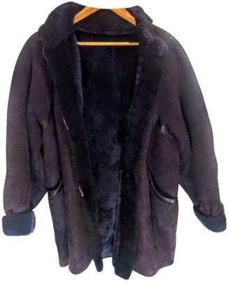 Saint Laurent Purple Shearling Coats