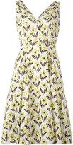 Prada floral print dress - women - Cotton/Spandex/Elastane - 42