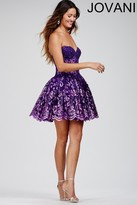 Jovani Lace and Micro Beads Embellished Sweetheart Dress 88603