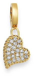 Roberto Coin 18K Yellow Gold Charm Set Diamond Heart Charm