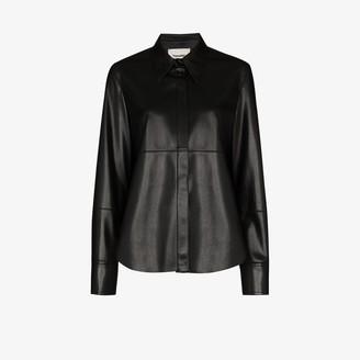 Nanushka Naum Faux Leather Shirt