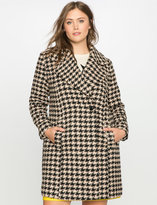 ELOQUII Plus Size Houndstooth Coat