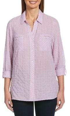 Rafaella Petite Gingham Stretch Shirt