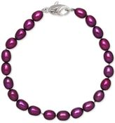 Honora Style Grape Cultured Freshwater Pearl Bracelet in Sterling Silver (7-8mm)
