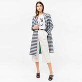 Paul Smith Women's Navy And White Gingham Coat