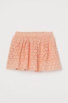 H&M Skirt with Eyelet Embroidery - Orange