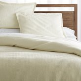 Crate & Barrel Tessa Cream Duvet Covers and Pillow Shams