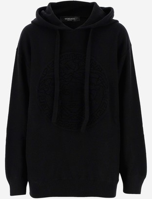 Versace Black Cotton Women's Hoodie